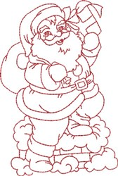 Santa on the Roof Top embroidery design
