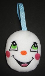 ITH Snowman Baby Face Ornament embroidery design