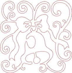 Christmas Bell Quilt Block embroidery design
