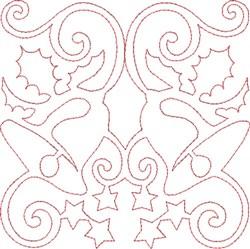 Christmas Bells Quilt Block embroidery design