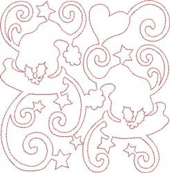 Santas Hats Quilt Block embroidery design