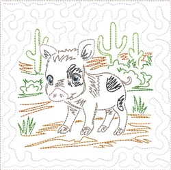 ITH SW Desert Baby Quilt 6 embroidery design