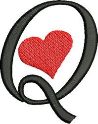 Sweetheart Q embroidery design