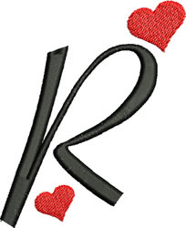 Sweetheart R embroidery design
