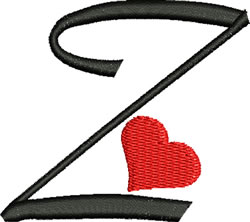 Sweetheart Z embroidery design