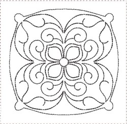 ITH Painted Tile Quilt Block 3 embroidery design