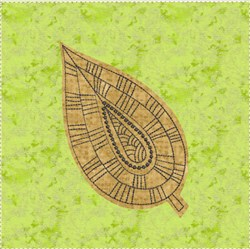 Raw Edge Leaf Applique Block 3 embroidery design