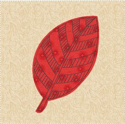 Raw Edge Leaf Applique Block 4 embroidery design