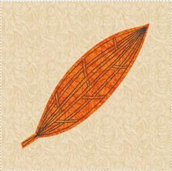 Raw Edge Leaf Applique Block 7 embroidery design