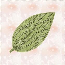 Raw Edge Leaf Applique Block 9 embroidery design