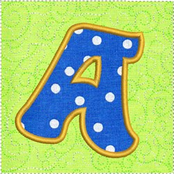 ITH Alphabet Quilt Block A embroidery design