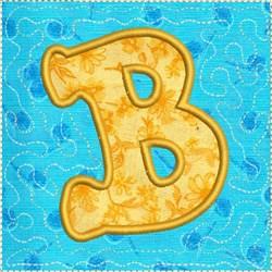 ITH Alphabet Quilt Block B embroidery design