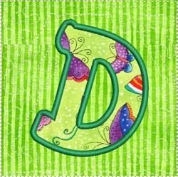 ITH Alphabet Quilt Block D embroidery design