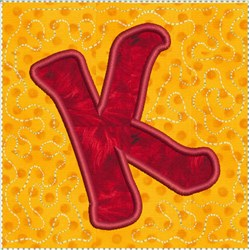 ITH Alphabet Quilt Block K embroidery design