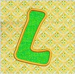 ITH Alphabet Quilt Block L embroidery design