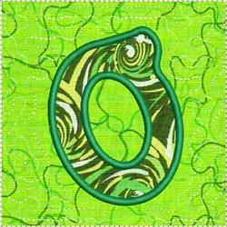 ITH Alphabet Quilt Block O embroidery design