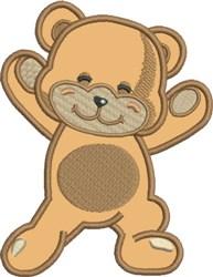 Appliqué Bear embroidery design