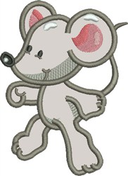 Appliqué Buddy Mouse embroidery design