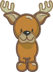 Appliqué Reindeer embroidery design