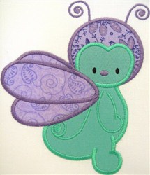 Appliqué Fly embroidery design