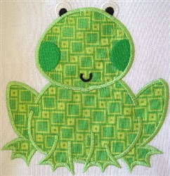 Appliqué  Frog embroidery design
