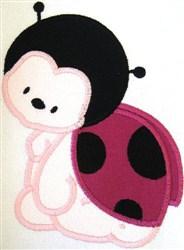 Appliqué Lady Bug embroidery design