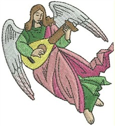 Angel With Lute embroidery design