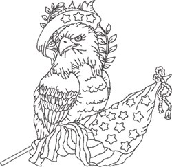 American Eagle 1 embroidery design