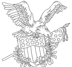 American Eagle 5 embroidery design