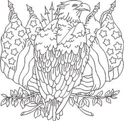 American Eagle 6 embroidery design