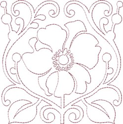 Anemone Single Run Quilting A embroidery design