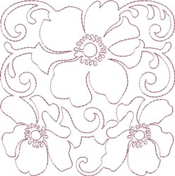 Anemone Single Run Quilting C embroidery design