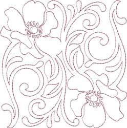 Anemone Single Run Quilting D embroidery design