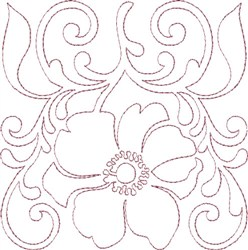 Anemone Single Run Quilting E embroidery design