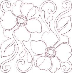 Anemone Single Run Quilting F embroidery design