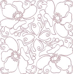 Anemone Single Run Quilting G embroidery design