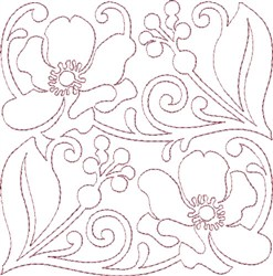 Anemone Single Run Quilting I embroidery design