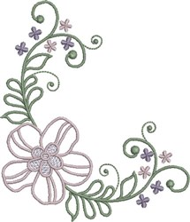Merry Floral embroidery design
