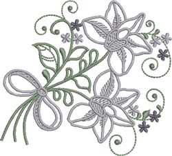 Illusory Floral embroidery design
