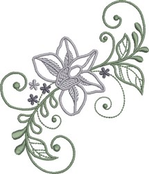Sprightly Floral embroidery design