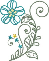 Whimsical Floral embroidery design