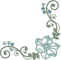 Simple Floral embroidery design