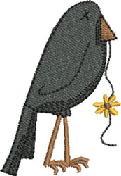 Autumn Crow embroidery design