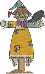 Autumn Scarecrow Girl embroidery design