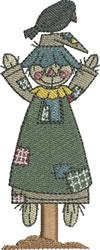 Autumn Scarecrow Girl embroidery design
