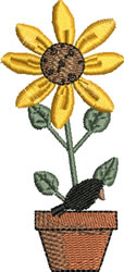 Autumn Sunflower embroidery design