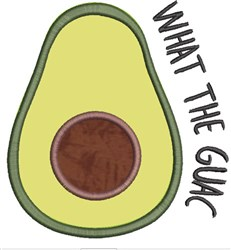Avocado Applique 2 embroidery design