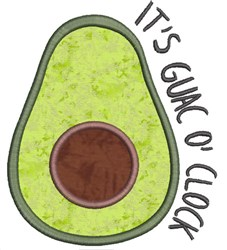 Avocado Applique 3 embroidery design