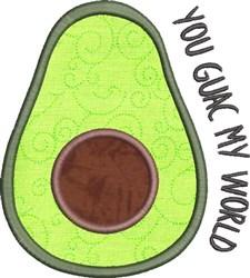 Avocado Applique 4 embroidery design