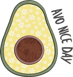 Avocado Applique 5 embroidery design